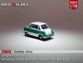 Zündapp Janus (British N 1:148) in Smooth Fine Detail Plastic