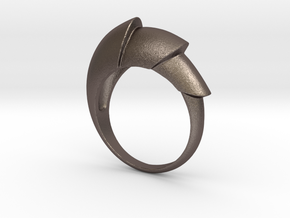 Nautical_Ring in Polished Bronzed Silver Steel