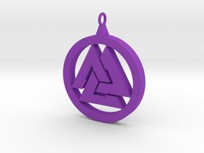 Part-Closed Tri-Pendant in Purple Processed Versatile Plastic