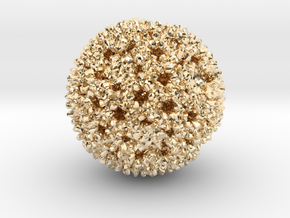 Reovirus in 14k Gold Plated Brass