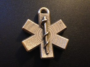 Star Of Life Blank in Polished Bronzed Silver Steel