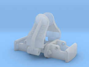 1:24 Heywood Coupler Assembly DBR in Smooth Fine Detail Plastic