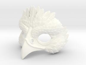 Bird Mask in White Processed Versatile Plastic