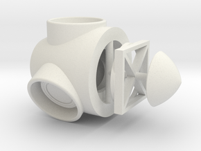 Wind Turbine Hub N Scale in White Natural Versatile Plastic