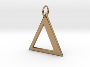 Delta Pendant in Polished Brass