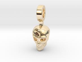 Crystal Skull in 14k Gold Plated Brass