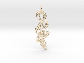 Lizard Pendant in 14k Gold Plated Brass