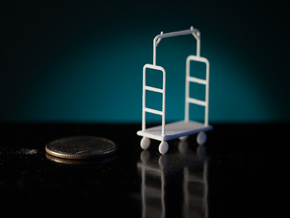 1:48 Luggage Cart in White Strong & Flexible