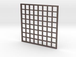 Wordclock Pixel Guard in Polished Bronzed Silver Steel