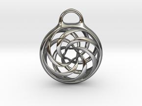 Vortex Pendant in Fine Detail Polished Silver