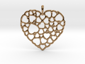 Heart of Hearts Pendant in Polished Brass