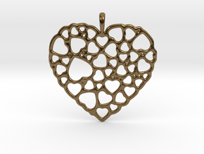 Heart of Hearts Pendant in Polished Bronze