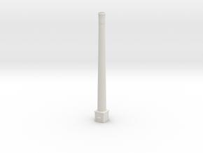 NUch03 Factory chimneys in White Natural Versatile Plastic