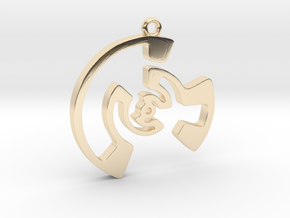 Labyrinth Series #3 in 14k Gold Plated Brass