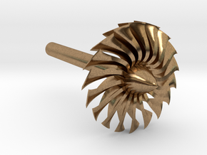 Jet Engine Desk Display [Fan] in Natural Brass