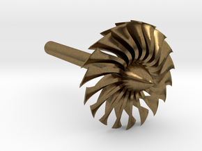 Jet Engine Desk Display [Fan] in Natural Bronze