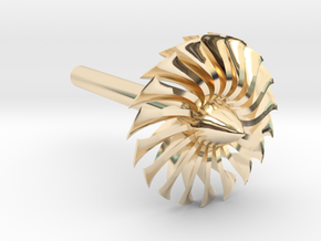 Jet Engine Desk Display [Fan] in 14k Gold Plated Brass