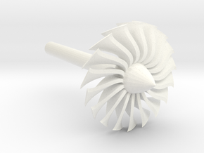Jet Engine Desk Display [Fan] in White Processed Versatile Plastic