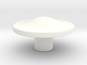 Tai Hat Finial in White Processed Versatile Plastic