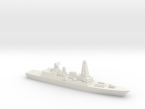 Type 45 DDG, w/ Barrels, 1/3000 in White Natural Versatile Plastic