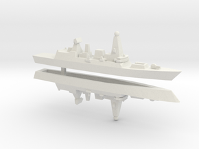 Type 45 DDG, w/ Barrels x 2, 1/3000 in White Natural Versatile Plastic