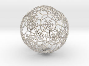 iFTBL Xmas Snow Ball / The One - Ornament 60mm ' in Rhodium Plated Brass