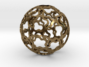 Pendant Flower Ball 33 in Polished Bronze
