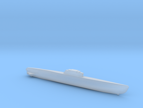 Type XXI Submarine, Full Hull, 1/1800 in Smooth Fine Detail Plastic