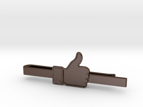 THUMBS UP in Polished Bronze Steel