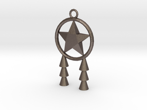 Miniature Parol in Polished Bronzed Silver Steel