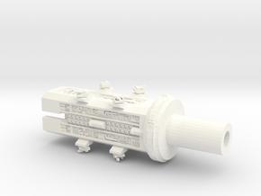 4222 Omega Midships in White Processed Versatile Plastic