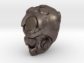 Halo 5 Pioneer 1/6 scale helmet in Polished Bronzed Silver Steel