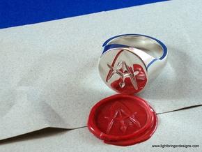 Custom Signet Ring in Premium Silver