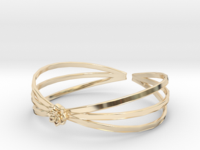 Lotus in 14k Gold Plated Brass
