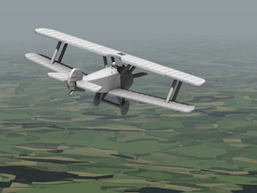 Sopwith Camel in White Natural Versatile Plastic: 1:144