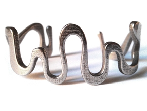 snake cuff size M in Stainless Steel