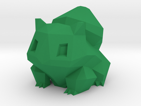 Low Poly Bulbasaur in Green Processed Versatile Plastic