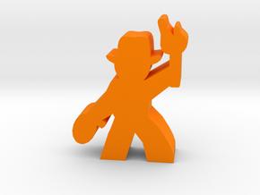 Game Piece, Hat Guy Adventurer, with rope, torch in Orange Processed Versatile Plastic