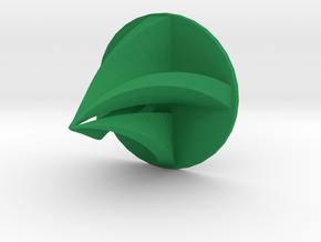 Modern Christmas Tree Ornament in Green Processed Versatile Plastic