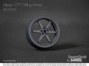 Drifting Wheel 49.5mm in Black Natural Versatile Plastic