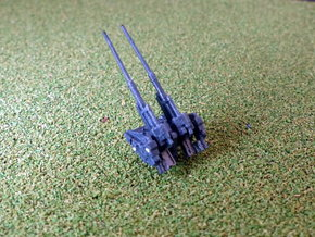 German Twin 12,8cm Flak 44 1/285 6mm  in Smooth Fine Detail Plastic