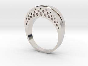 Evaporation Ring - US Size 06 in Platinum