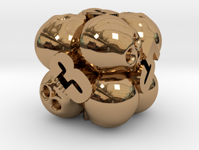 Ossuary d6 in Polished Brass