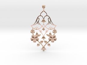 CODE: SL01Z4 - PENDANT in 14k Rose Gold Plated Brass
