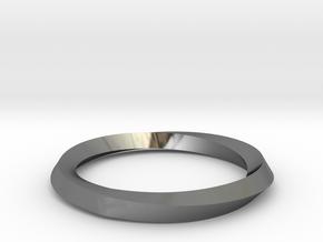 Mobius Wedding Ring-size7.75 in Premium Silver