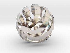 STAC in Rhodium Plated Brass
