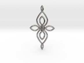 Custom Celtic Knot 01 in Fine Detail Polished Silver
