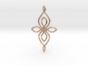 Custom Celtic Knot 01 in 14k Rose Gold Plated Brass