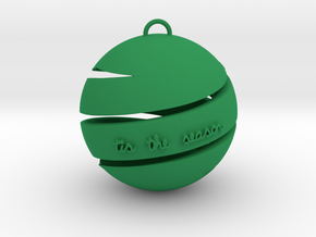 'Tis the Season Ornament in Green Processed Versatile Plastic