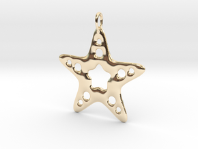 Starfish Pendant in 14k Gold Plated Brass